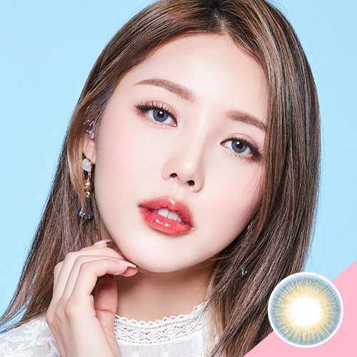 LENS TOWN Glossy Mood Blue (New Pony Edition) Colored Contact Lens Silicone  Hydrogel Daily Wear