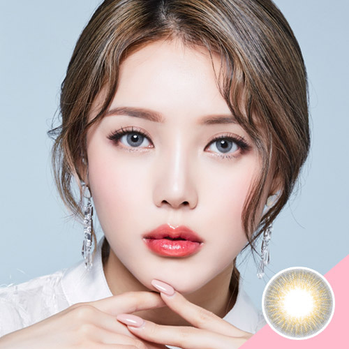 LENS TOWN Glossy Mood Gray (New Pony Edition) Colored Contact Lens Silicone  Hydrogel Daily Wear