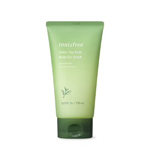 innisfree,green tea pure body gel scrub